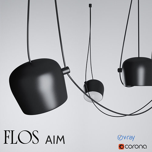 flos aim designed by r  e bouroullec 3d model max obj mtl 1