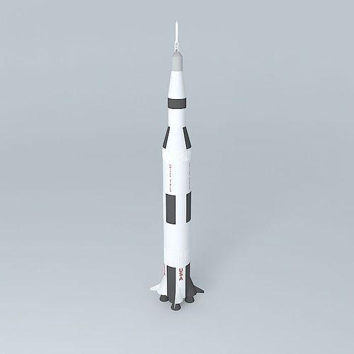 saturn v rocket 3d model max obj 3ds fbx stl dae 1