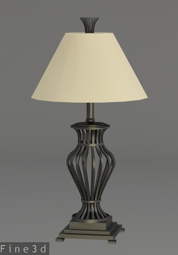 3d dark metal table lamp cgtrader for Table lamp 3ds max