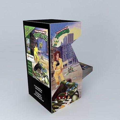 tmnt arcade machine 3d model max obj mtl 3ds fbx stl dae 1