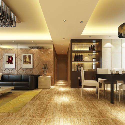 Warm color interior photoreal 3d cgtrader for Model interior design living room