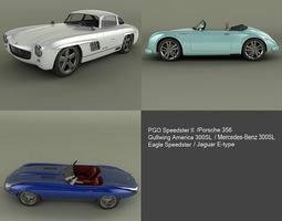 neo classic cars 3d model