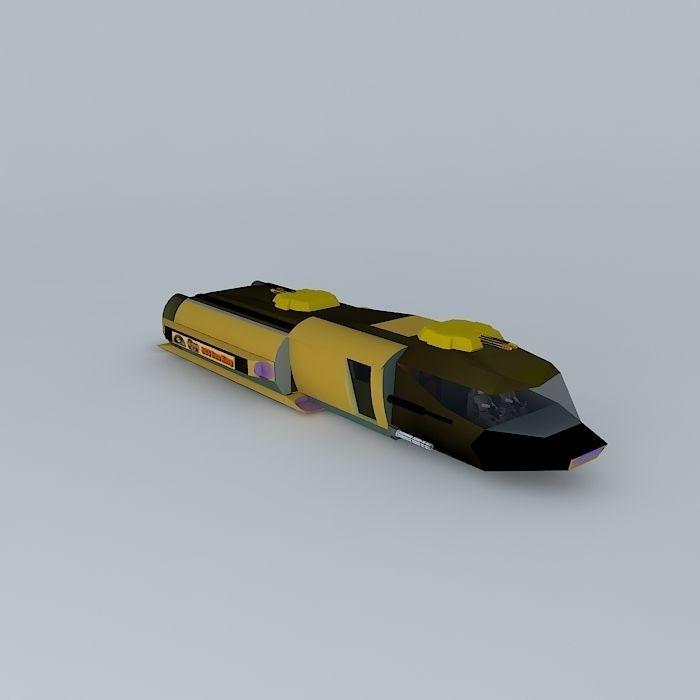 SCS Sea King Su4 6 battle space shuttle class free 3D model