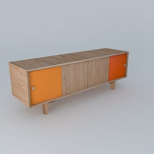 3d model sideboard storage cgtrader for Sideboard 3d