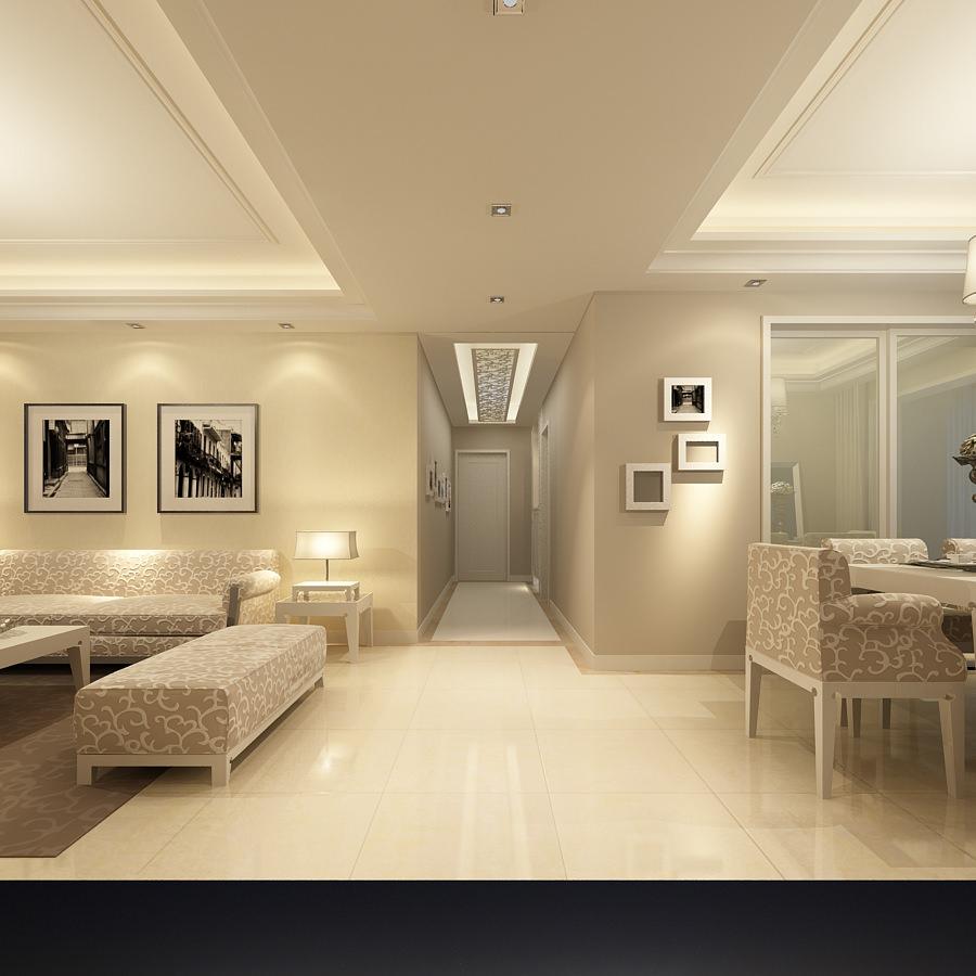 Modern flat interior photoreal 3d model max for Modern flat interior
