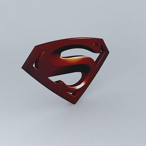 3d model superman logo cgtrader
