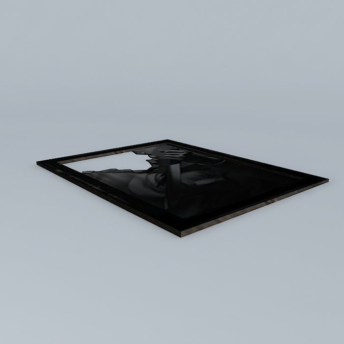 Silent Hill Frammed Picture Ripped With Knife free 3D model