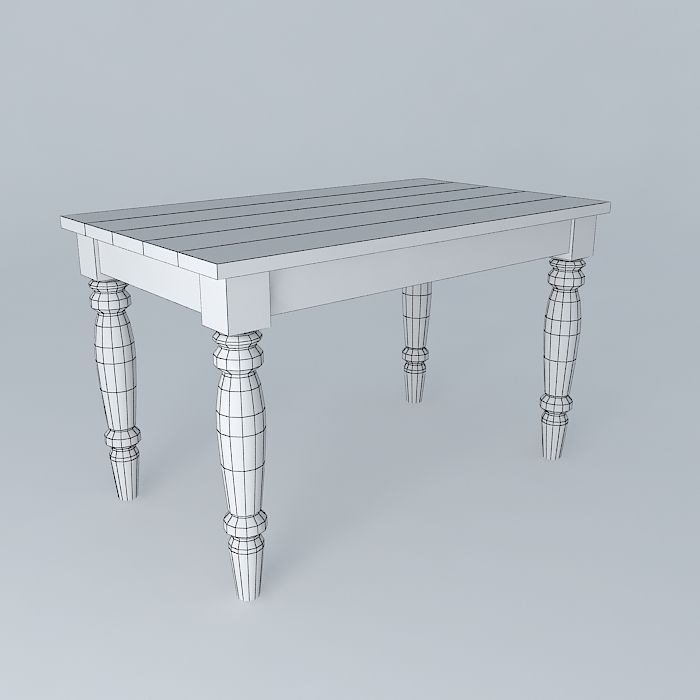 Old wooden table free 3d model max obj 3ds fbx stl dae for Transmutation table 85 items