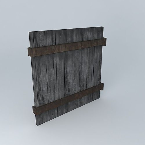 3d model wood wall fence panel cgtrader for Exterior 3d model
