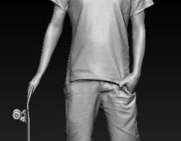 skateboarder 3D printable model