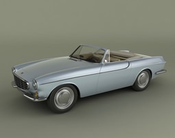 volvo p1800 convertible 3d model max obj 3ds