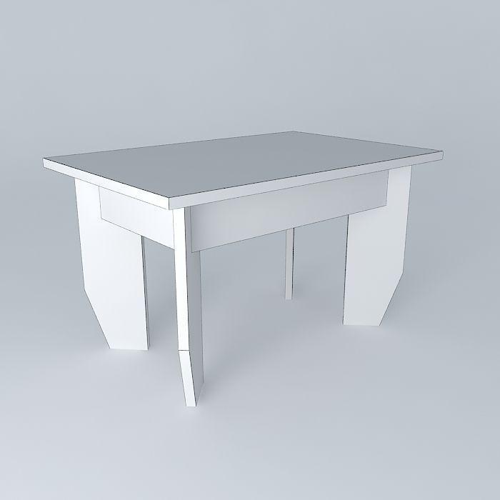 ... Contemporary Center Of Table 3d Model Max Obj 3ds Fbx Stl Dae 4 ...