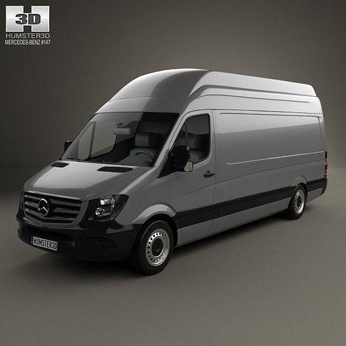mercedes benz sprinter panel van lwb shr 2013 3d model max obj 3ds fbx c4d lwo lw lws. Black Bedroom Furniture Sets. Home Design Ideas