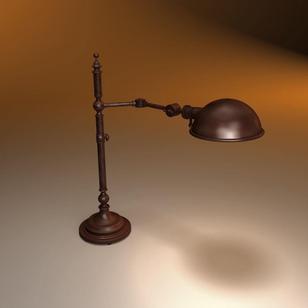 3d Restoration Hardware Franklin Pharmacy Table Lamp