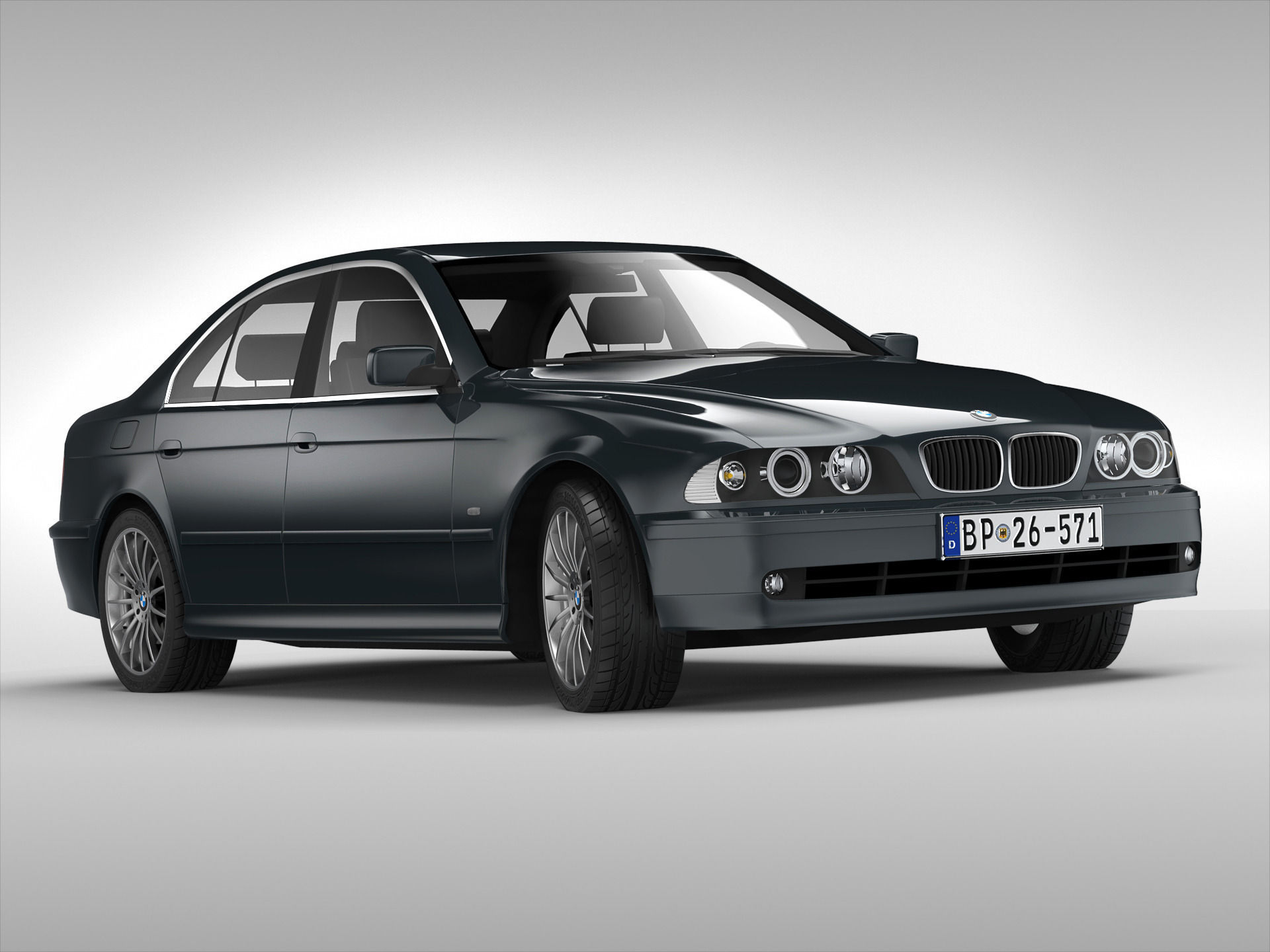 Bmw Series E D Model Max Obj Ds Fbx on All Car Body Parts Named