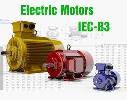 3d 72 cad models - electric motors iec b3