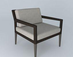 3D model Dedon Tribeca Lounge Chair
