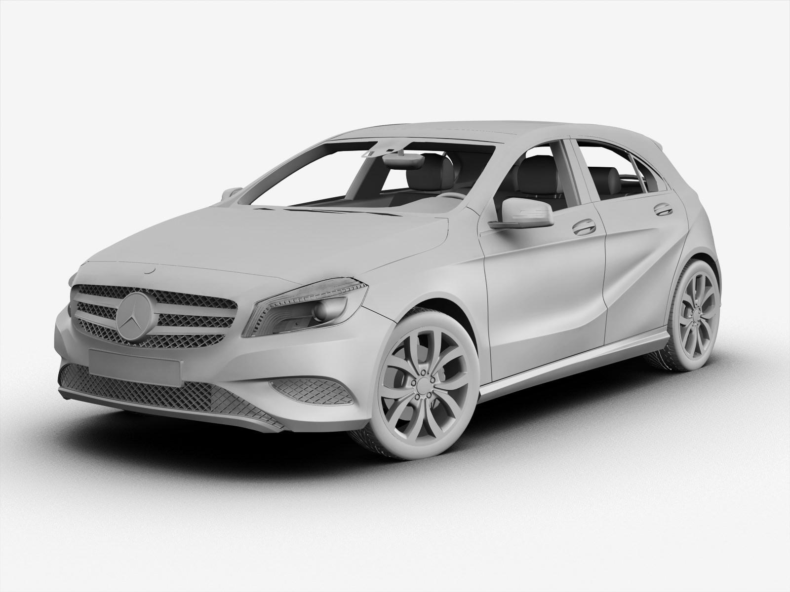 Mercedes benz a class 2013 3d model max obj 3ds fbx for Mercedes benz a class 2013