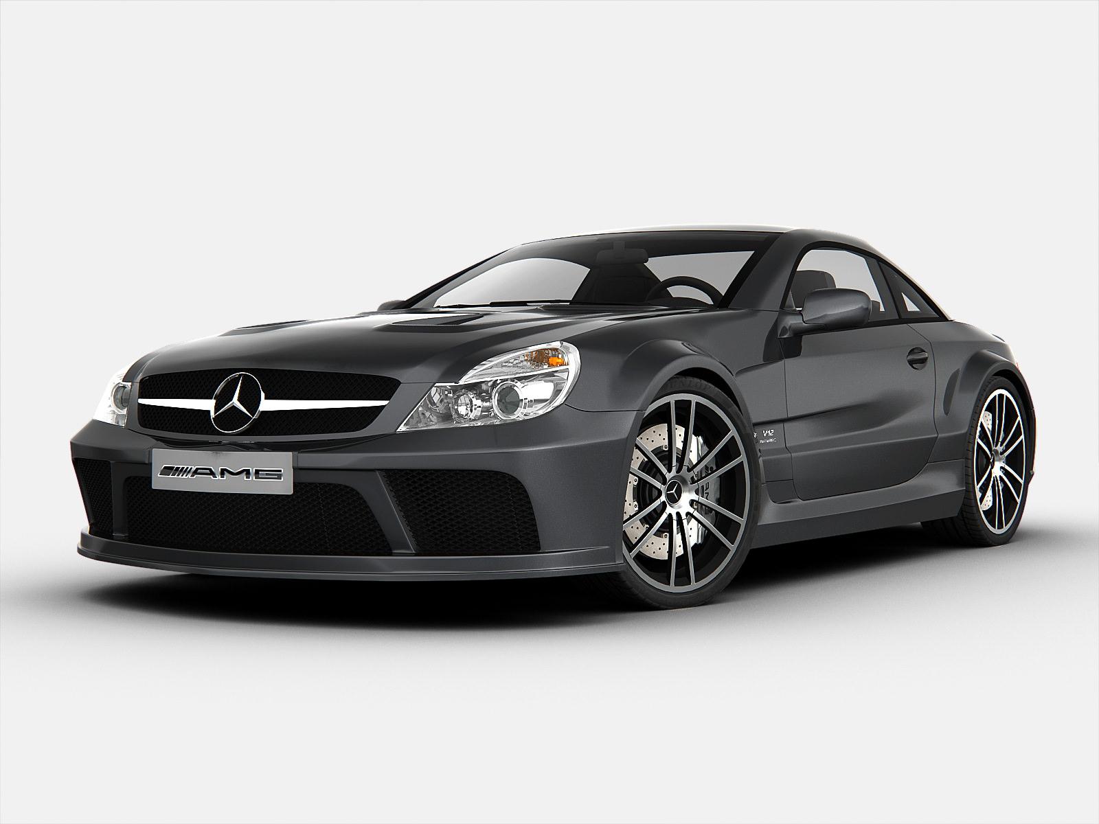 Mercedes benz sl65 amg black series 3d model max obj 3ds for Mercedes benz e series amg