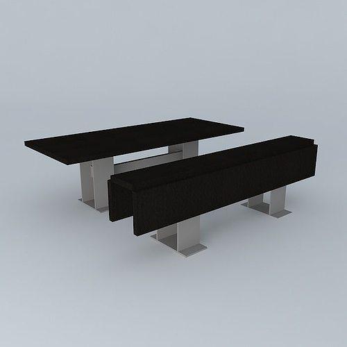 folding dining tables 3d model max obj 3ds fbx stl dae 1