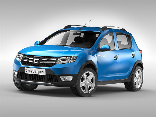 3d model dacia sandero stepway 2013 cgtrader. Black Bedroom Furniture Sets. Home Design Ideas
