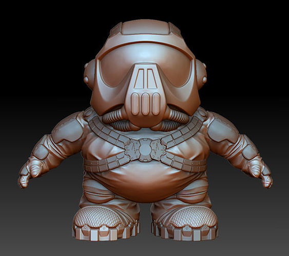 super short shock trooper 3d model stl 1