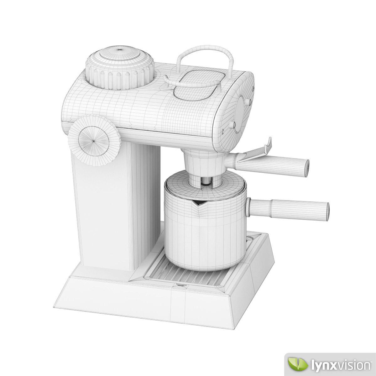 Espresso Maker 3D Model MAX OBJ FBX CGTrader.com