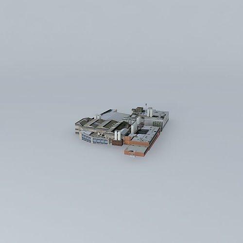 brisbane parmalat factory 3d model max obj mtl 3ds fbx stl dae 1
