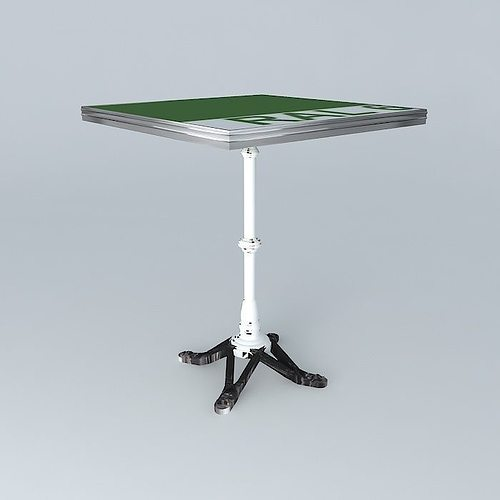 BISTRO TABLE SQUARE 3D Model