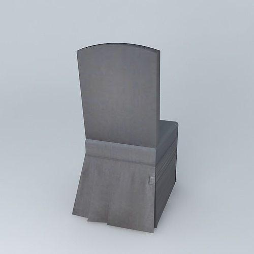 Linen Chair Cover anthracite linen chair cover alice maisons du monde 3d model max