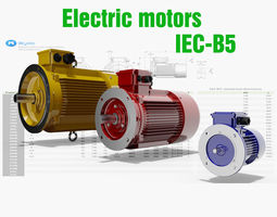 21 CAD Models - Electric motors IEC B5