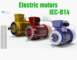 3D 14 CAD Models - Electric motors IEC B14