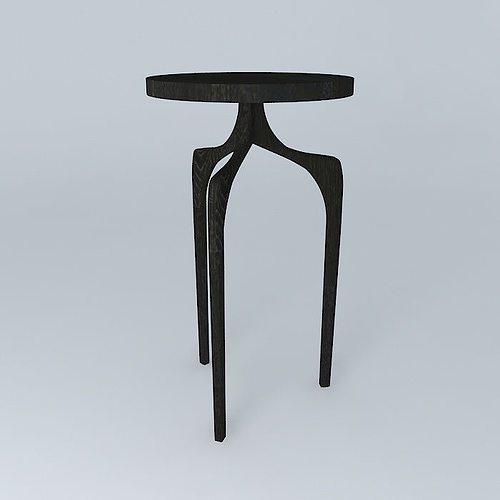 Tall Skinny Side Table Model Max Obj Mtl S Fbx Stl Dae 1