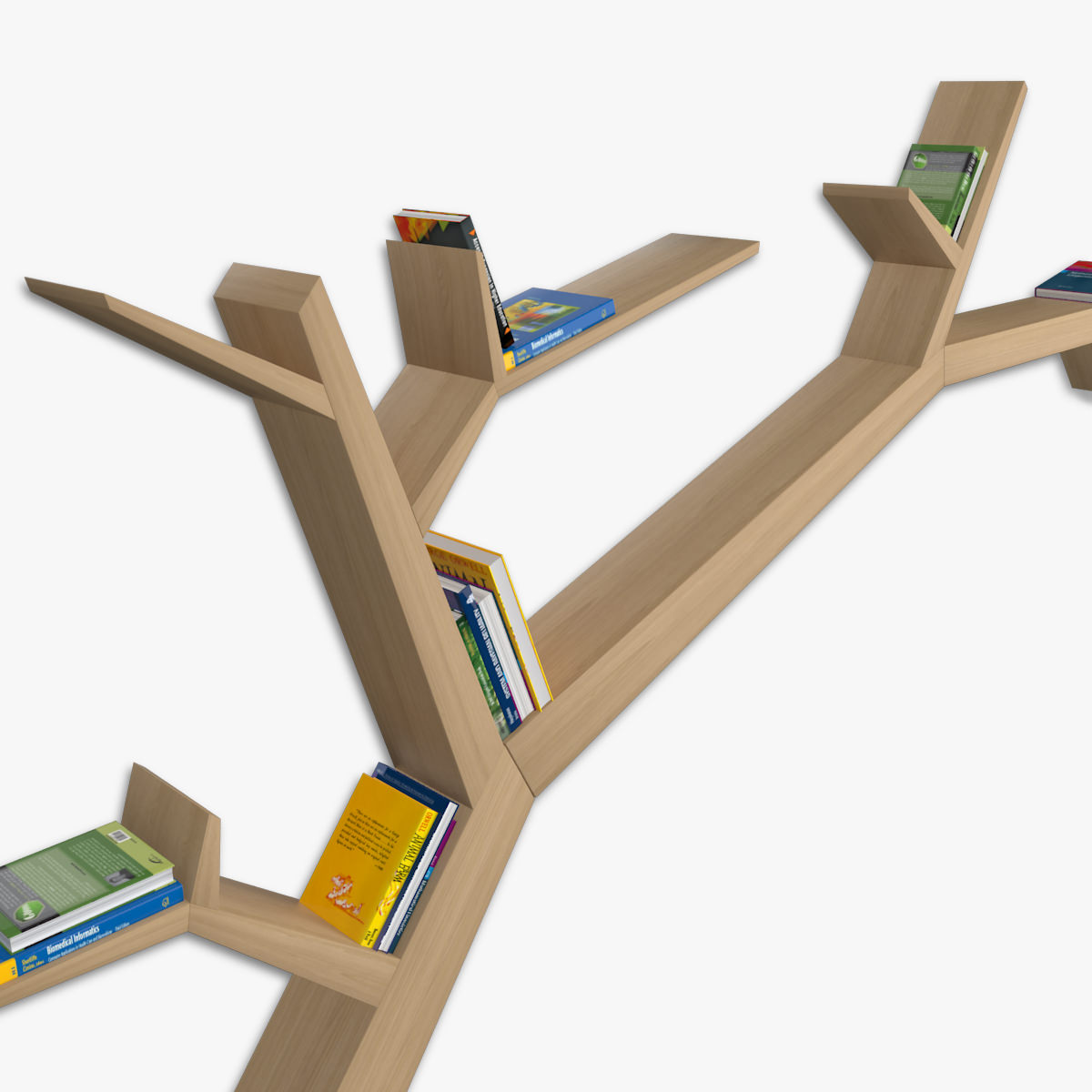 Bookshelf Branch 3d Model Max Obj Mtl Fbx C4d Ma Mb 3