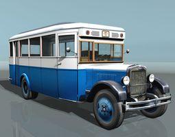zis-8 city bus 3d asset game-ready