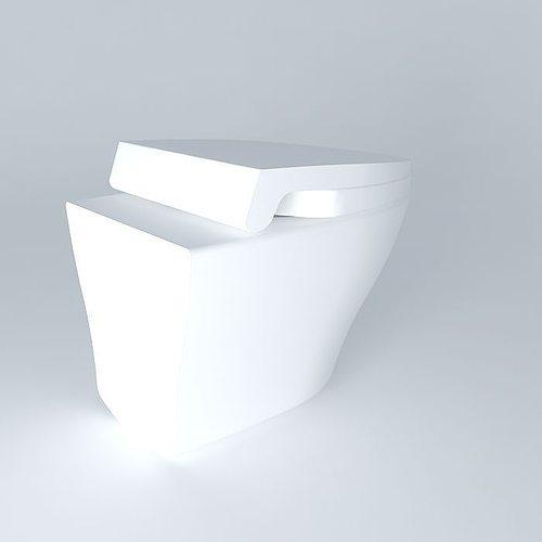 wall hung toilet 3d model - Wall Hung Toilet