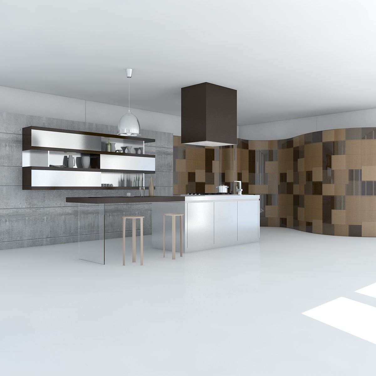 3d Model Kitchen Minimal Scene Cgtrader