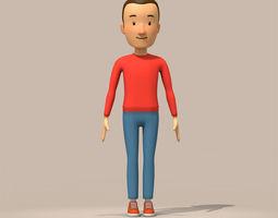 3D cartoon man