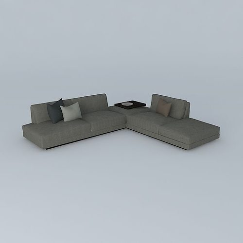 office soft sofa 3d model max obj mtl 3ds fbx stl dae 1