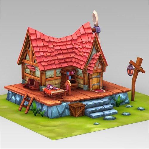 Fantasy Sweet Home 3d Model Low Poly Max Obj 3ds Fbx C4d Lwo Lw Lws