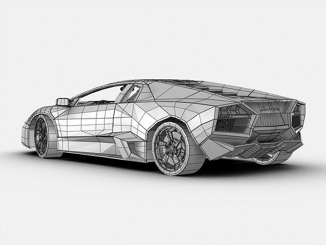 3d Model Exotic Lamborghini Reventon Cgtrader