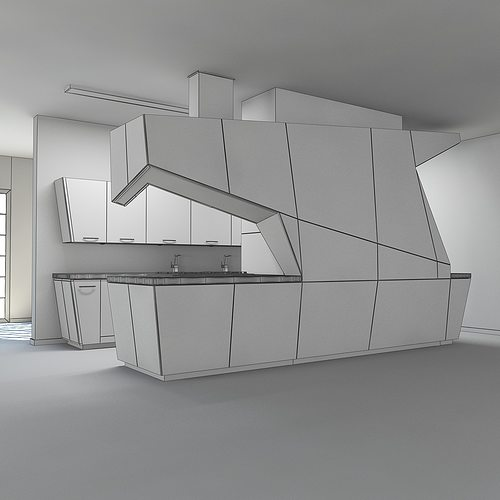 Modern Kitchen 3d Model modern kitchen scene max 2011 3d model max obj 3ds fbx