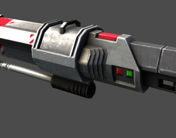 Sci-Fi Rocket Launcher 3D asset