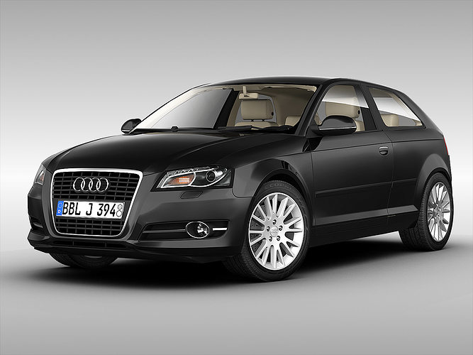 3d audi a3 2011 cgtrader. Black Bedroom Furniture Sets. Home Design Ideas