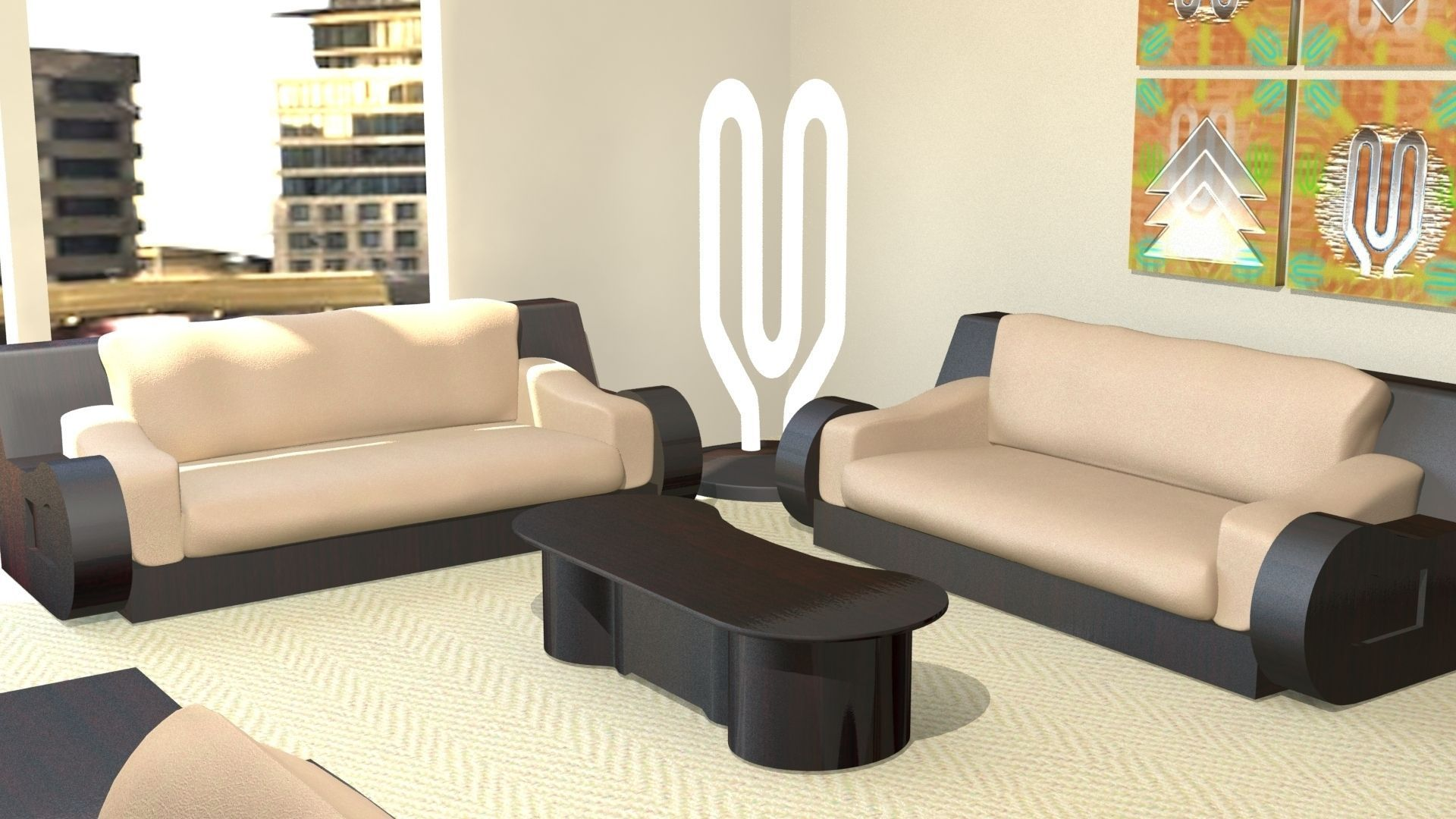 3D Modern fice Furniture