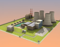 nuclear powerplant 3d model