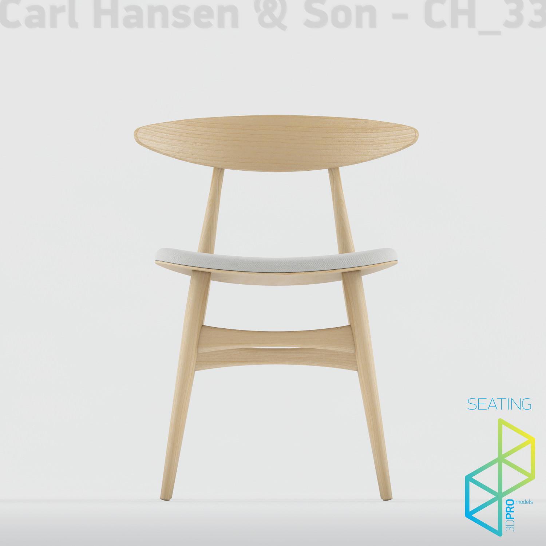 Carl Hansen Son Ch33 3d Model Max Obj 3ds
