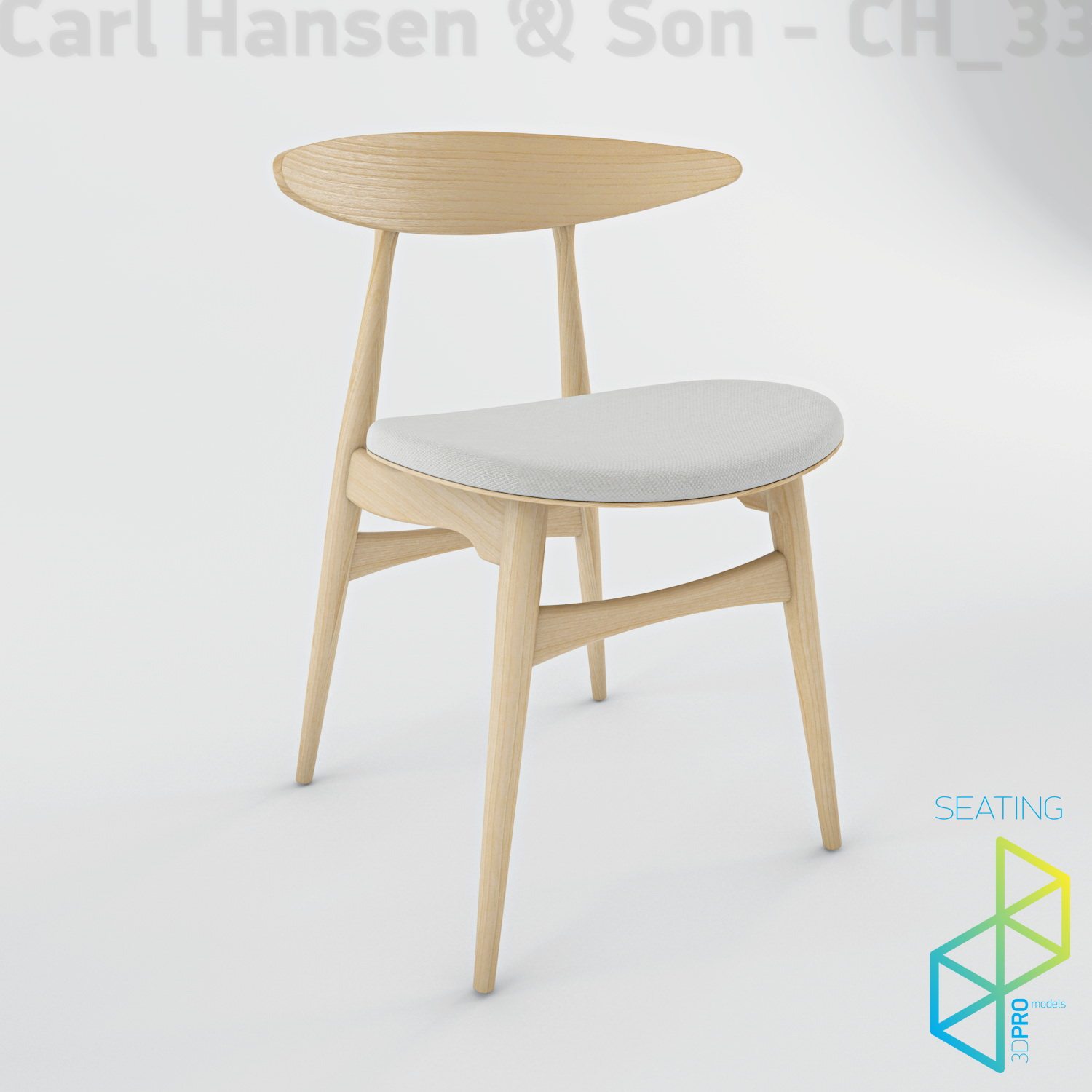 3D model Carl Hansen Son CH33