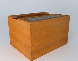 Kitchen Red Fair Cabinet brw black 3D