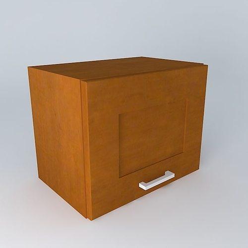 Kitchen Cabinet Models: Kitchen Cabinet BRW 3D Model Black